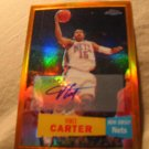 07-08 Topps Chrome Vince Carter Orange Refractor Auto /25