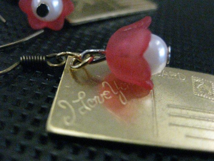 Handmade earrings - Mr Postman
