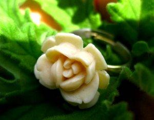 Handmade Ivory Rose Ring