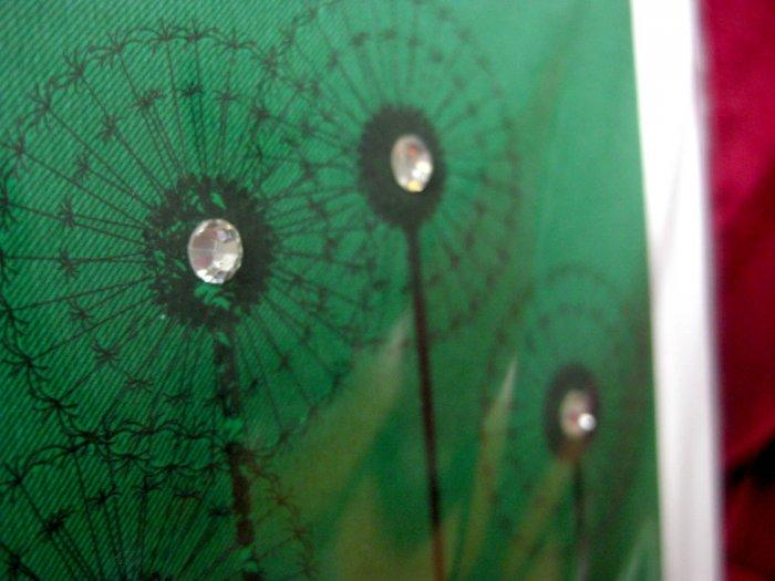 Handmade Card - Green Dandelions