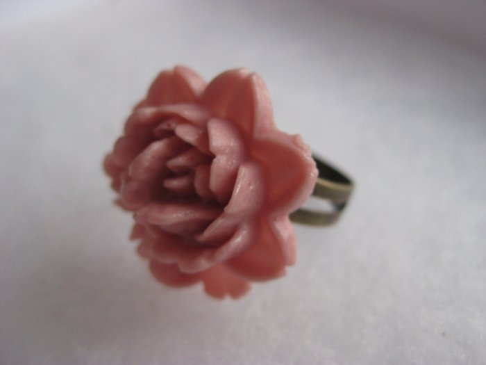 Handmade Dusty Pink Rose Ring