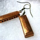 Handmade Vintage Harmonica Earrings