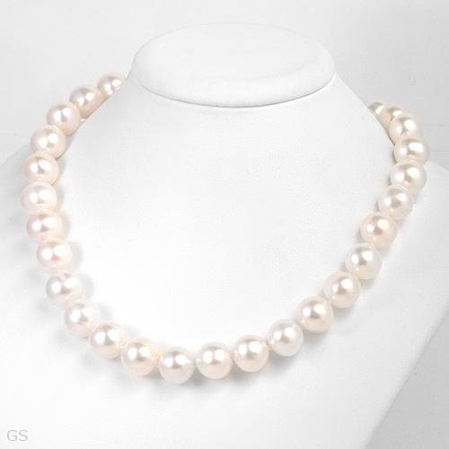 "11MM!!! Freshwater Pearls-14K- 18""- Natural White!!"