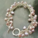 Freshwater Pearl- Silver Cha- Cha Bracelet - New !!