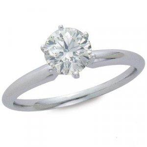 1/3 Carat Round Diamond Solitare Ring -14KG
