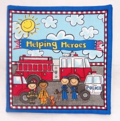 """Helping Heroes""  Fabric Book"