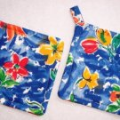 """Abstract Blue"" Potholder Set"