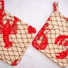 """Lobsters"" Potholder Set"