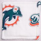 """Miami Dolphins - White"" Coaster Set of 4"