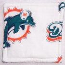"""""""Miami Dolphins - White"""" Coaster Set of 4"""
