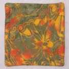 """Sage / Orange"" Coaster Set of 4"