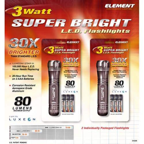 Super Bright LED Flashlights (2 pk.)