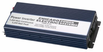 1200 Watt Continuous Power Inverter (3200 Watt Surge)