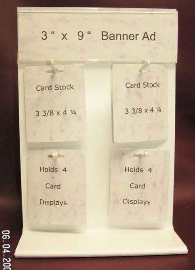 "Vertical Plastic 4 Card Displays 9"" x 13"" 2 Lot"