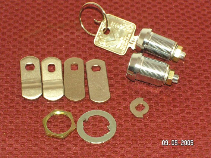 "Medeco High Security 7.8"" Cam Locks 2 Lot KA 1Ky"