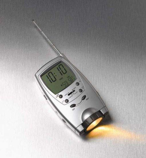 Multi-Function Handheld Radio Flashlight