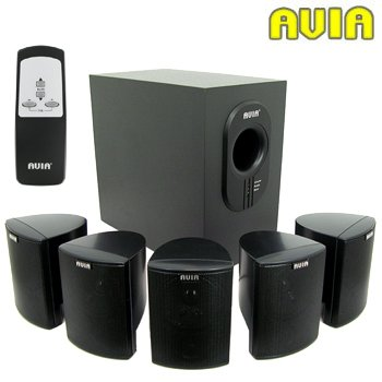 Avia 7-Piece 5.1 Home Theater Speaker System