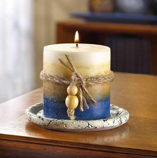 Blue Earth Tone Candle