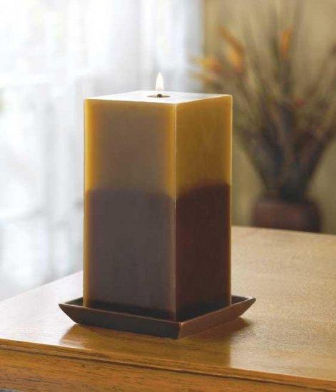 Earth Two Tone Pillar Candle