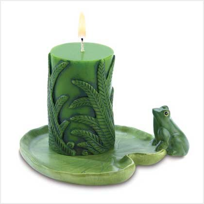 Lilly Pad and Frog Candle Set