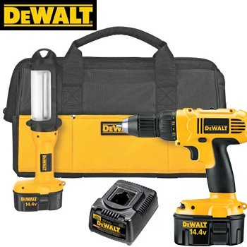 Dewalt Heavy Duty 14.4V Compact Drill and Fluorescent Light