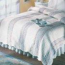 Blue Floral Quilt Cover