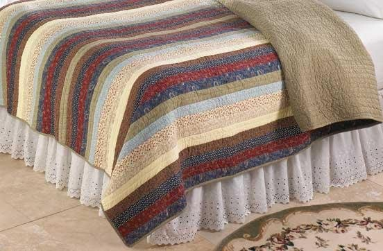 Striped Patchwork Quilt Cover