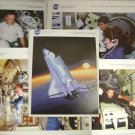 NASA Microgravity Space Shuttle Missions Lithograph Science Research Set Mir