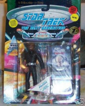 Star Trek TNG Next Generation Lieutenant Worf Rescue Playmates Action Figure New