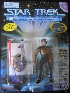 Star Trek TNG Next Generation Geordi LaForge Interstellar Playmates Action Figure Mint New