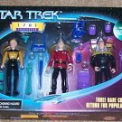 Star Trek TNG Next Generation 1701 Rare Figures Set Picard Yar Barclay Playmates Action Figure New