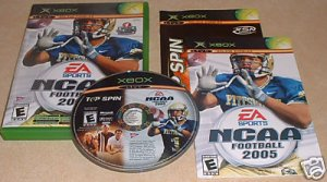 Xbox NCAA Football 2005 Top Spin Tennis 2 Games in 1 Box Disc and Manual Complete!