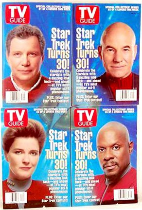 30th Anniversary Star Trek Captains TV Guides Rare Captain Kirk Picard Janeway August 24-30 1996