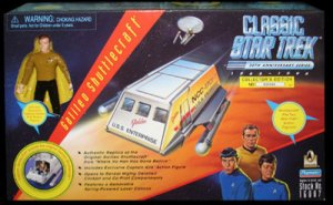 Classic Vintage Star Trek 30th SHUTTLCRAFT GALILEO w/ Captain Kirk Action Figure Playmates