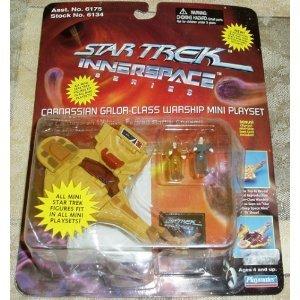 Star Trek Innerspace Cardassian Galor-Class Warship Mini Playset w/ Odo & Dukat DS9 Starship