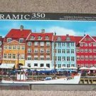 Panoramic 350 Piece Puzzle Colorful Buildings Nyhavn Copenhagen Denmark