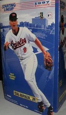 "1997 Cal Ripken Jr SLU Starting Line Up 12"" Doll Action Figure HOF Orioles Debut"