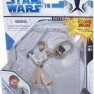 OBI-WAN KENOBI Basic Fun Keychain Star Wars Clone Wars Series 2 Use The Force