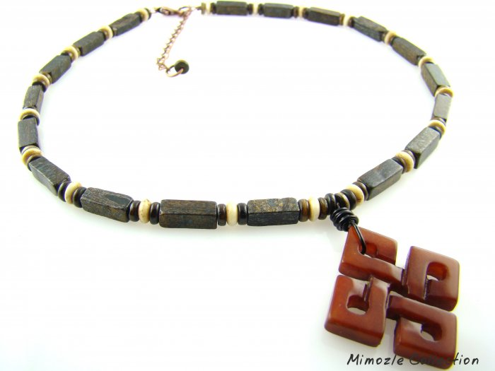 NATURAL MOCHA JASPER CHOKER AGATE PENDENT & EARRINGS SET