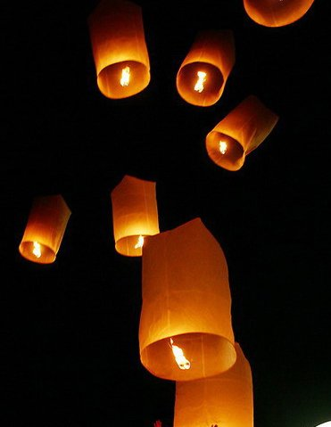 5 X THAI SKY FIRE LANTERN UFO HOT AIR BALLOON KHOM LOY