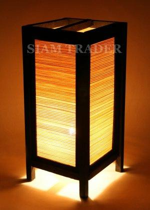 BAMBOO HORIZONTAL THAI HANDMADE WOODEN LAMP