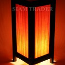 BAMBOO AND RED THREAD THAI HANDMADE WOODEN LAMP