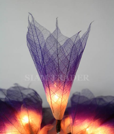 PURPLE REAL LEAF FLOWER PARTY / CHRISTMAS STRING LIGHTS