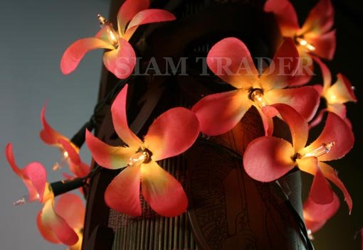 35 BULB ORANGE FLOWER PARTY / CHRISTMAS STRING LIGHT