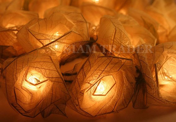4 sets of White Rose Party / Christmas String Lights