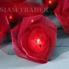 2 Packs of 35 Bulb Red Rose Flower Party / Christmas String Lights