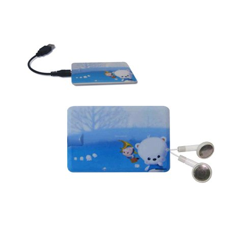 MP3 PLAYER BUSINESS CARD 1GB (6 PIECES)