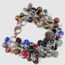 Celestial Multicolor Charm  Handmade Bracelet with Moon, Stars