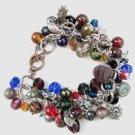 Celestial Multicolor Charm  Handmade Bracelet with Moon, Stars