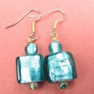 Simply Green Glass Handmade Artisan Earrings